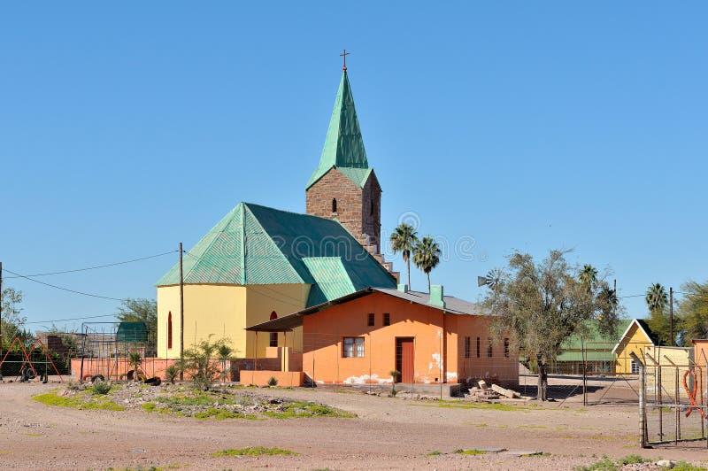 Igreja luterana em Berseba, Namíbia imagens de stock royalty free