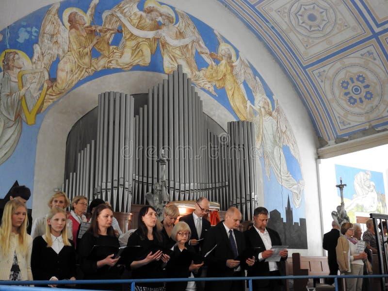 Igreja luterana evangélica de Martin Luther, Lituânia imagens de stock