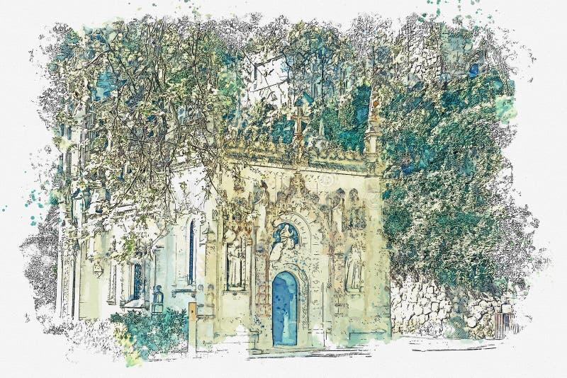 Igreja maçónica antiga imagem de stock