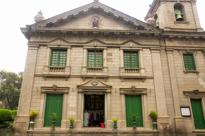 Igreja Macau do ` s de St Anthony foto de stock royalty free