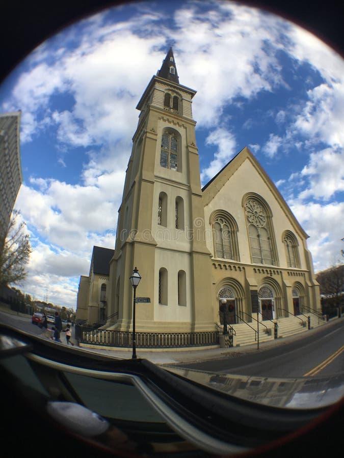 A igreja a mais velha de Charlestons foto de stock royalty free