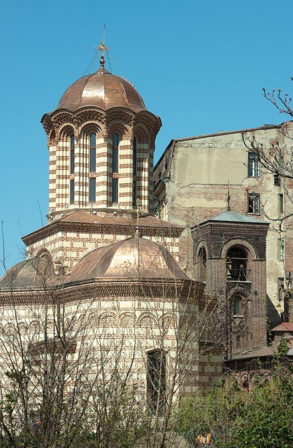 A igreja a mais velha de Curtea Veche em Bucareste imagem de stock royalty free
