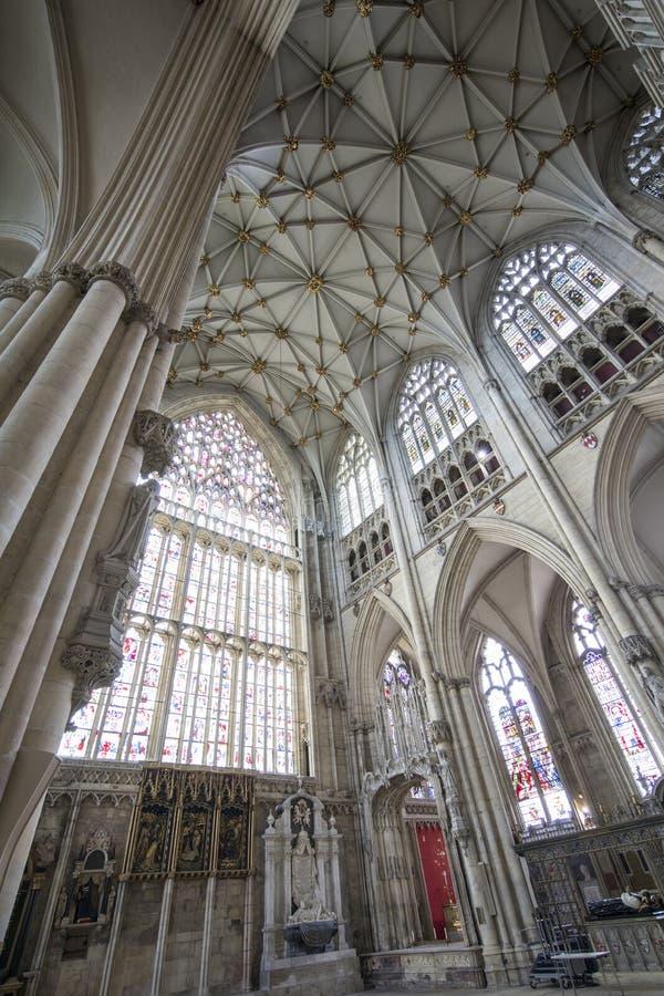 Igreja manchada de York da janela fotos de stock