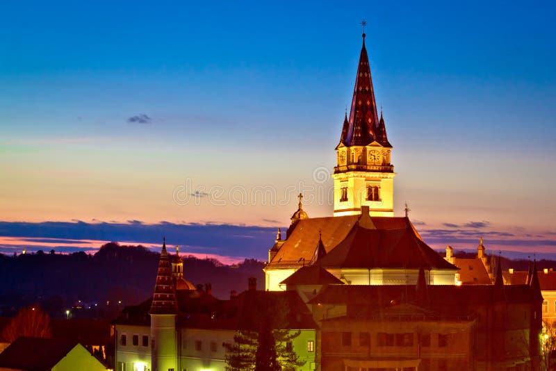 Igreja marianic do santuário de Marija Bistrica fotografia de stock