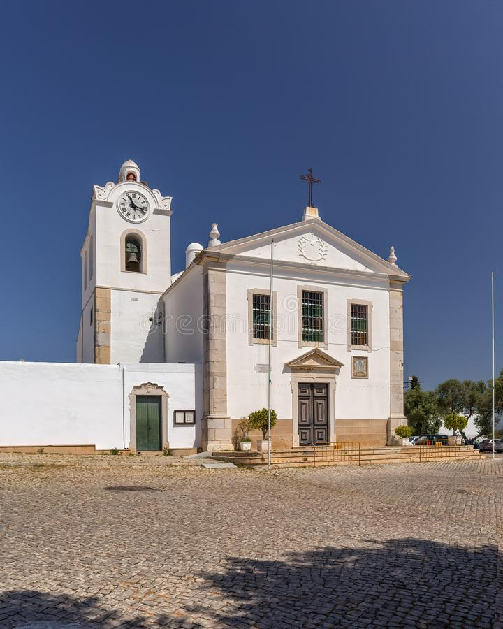 Igreja Matriz de Fuseta, Algarve, Portugal, foto de archivo