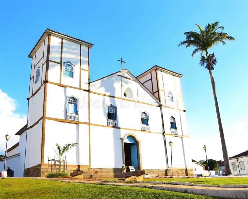 Igreja Matriz de Nossa Senhora hace el ¡Río de Rosà imágenes de archivo libres de regalías