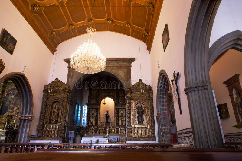 Igreja Matriz a Dinamarca Ribeira Brava interior, Madeira fotos de stock royalty free