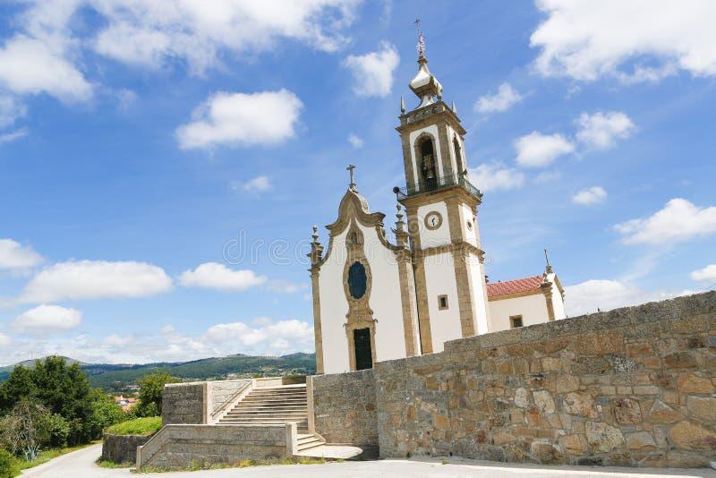 Igreja Matriz in Paredes de Coura nella regione di Norte, Portogallo immagini stock libere da diritti