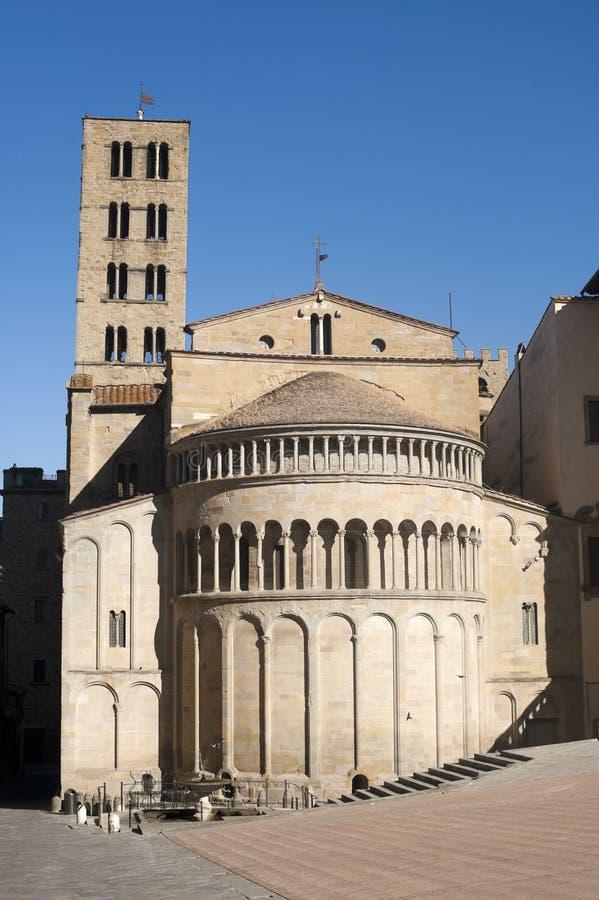 Igreja medieval em Arezzo (Toscânia, Italy) fotografia de stock royalty free