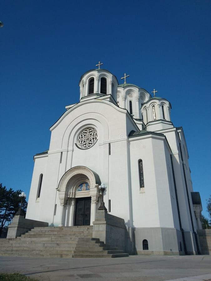 Igreja memorável de Saint Dimitrije, Lazarevac, Sérvia fotografia de stock royalty free