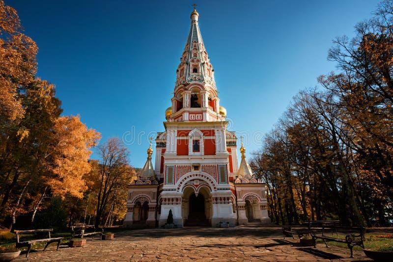 Igreja memorável de Shipka, Bulgária fotografia de stock royalty free