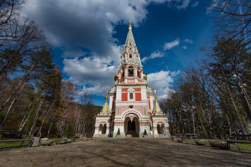 Igreja memorável de Shipka, Bulgária imagem de stock