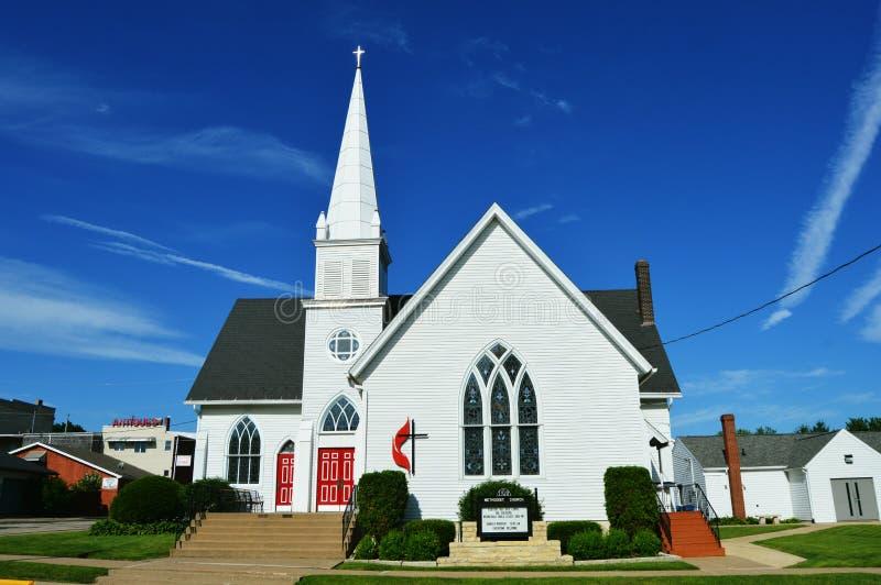 Igreja metodista unida fotografia de stock