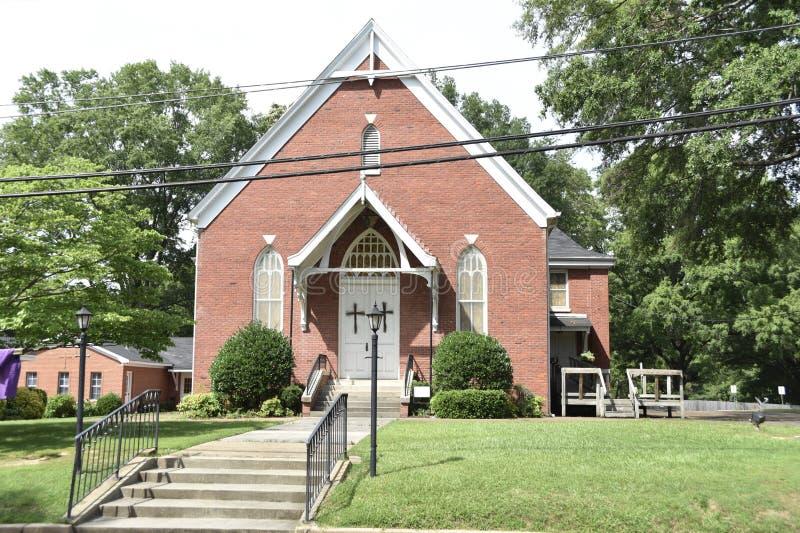 Igreja metodista unida de Coldwater, Coldwater, Mississippi fotografia de stock