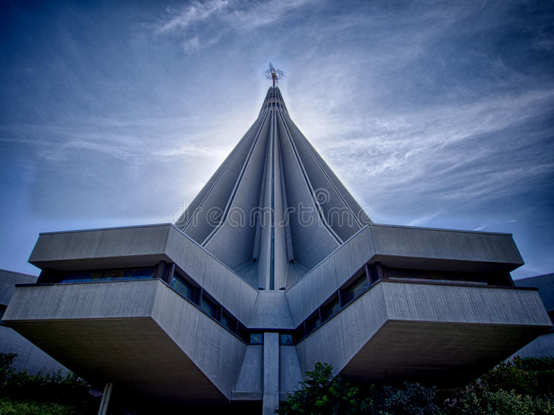 Igreja moderna em Siracusa fotos de stock royalty free