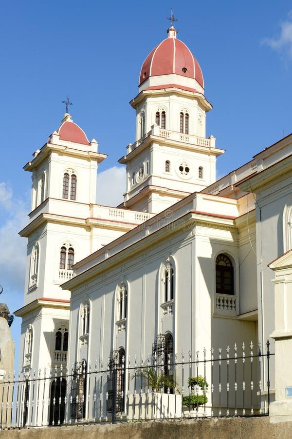 Igreja muito famosa 13km do EL Cobre de Santiago de Cuba fotos de stock