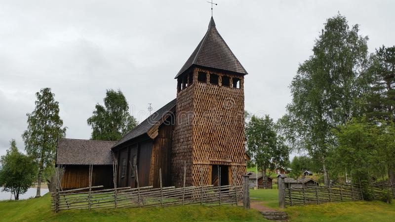 Igreja muito velha foto de stock