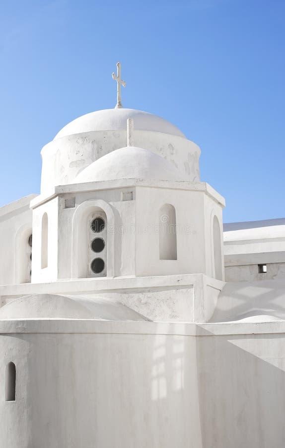 Igreja na cidade dos naxos imagem de stock