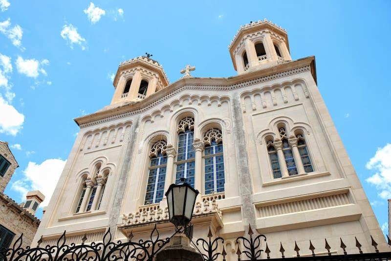 Igreja na cidade velha de Dubrovnik, Croácia imagem de stock