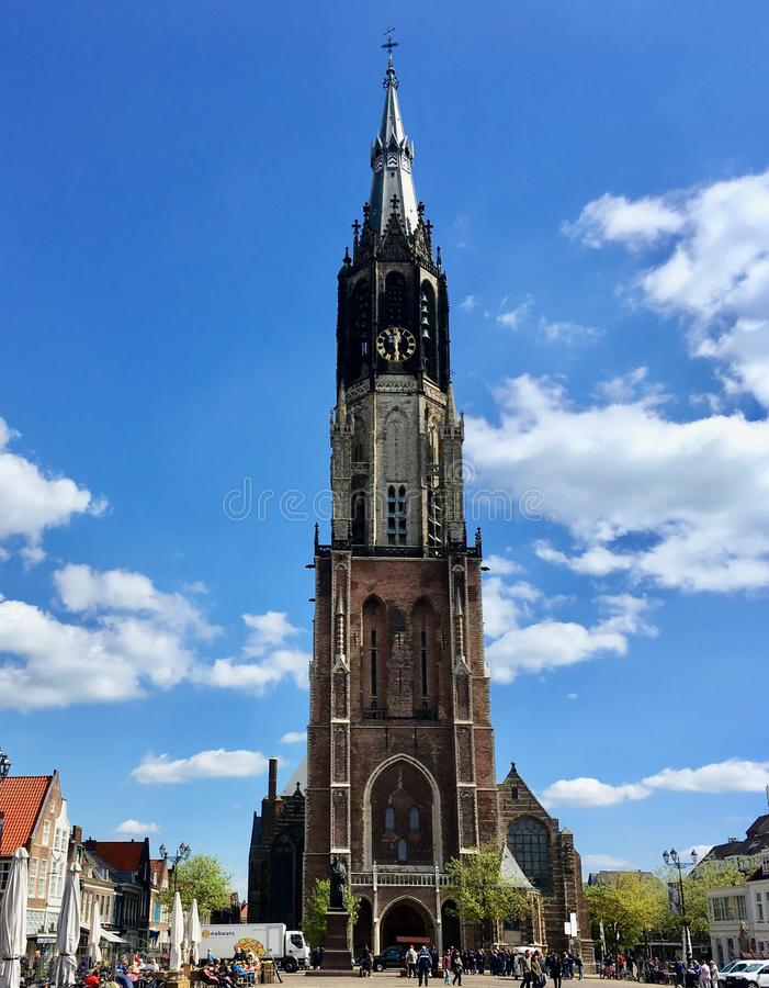 Igreja na lou?a de Delft imagem de stock royalty free