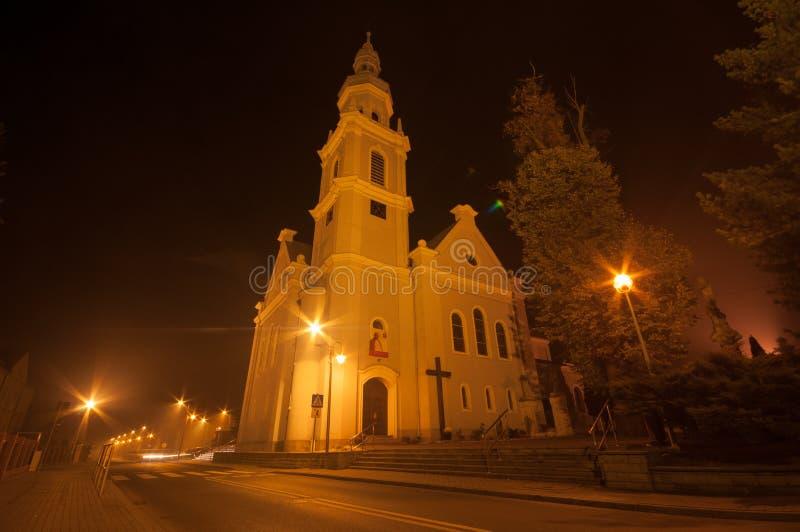 Igreja na noite imagens de stock