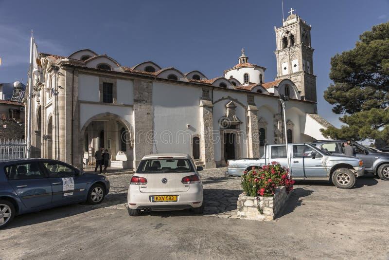 Igreja na vila de Lefkara em Chipre fotografia de stock