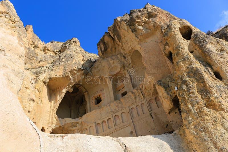 Igreja nas formações de rocha em Cappadocia, Anatolia, Turquia fotos de stock royalty free