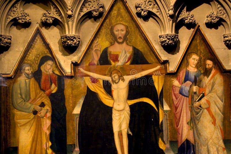 Igreja New York City da trindade da pintura de Christ foto de stock royalty free