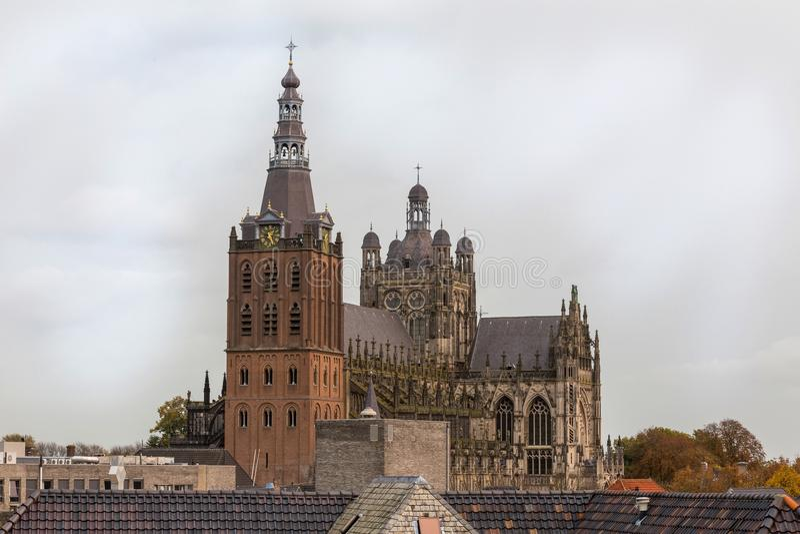 Igreja no bosch do antro nos Países Baixos imagem de stock