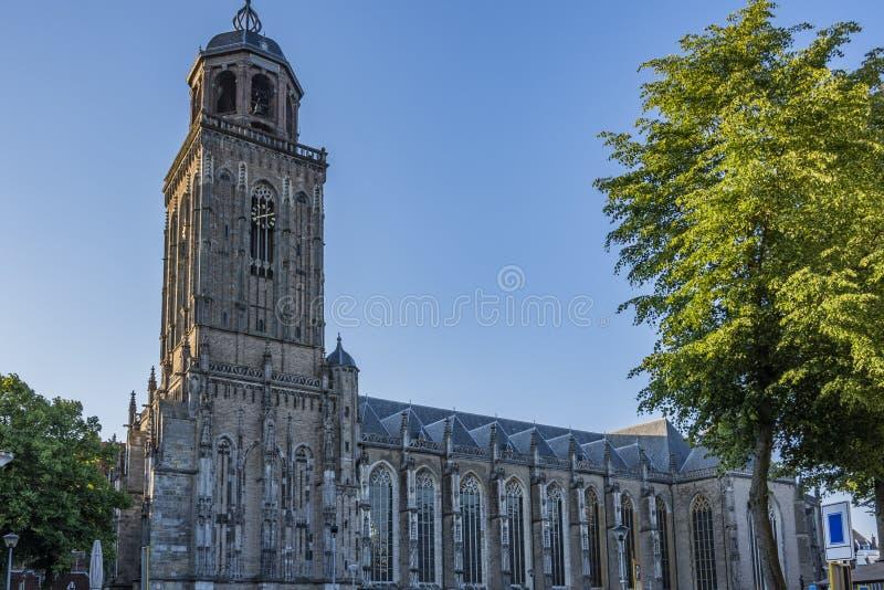 Igreja no centro da vila do deventer Holland Netherlands imagens de stock royalty free