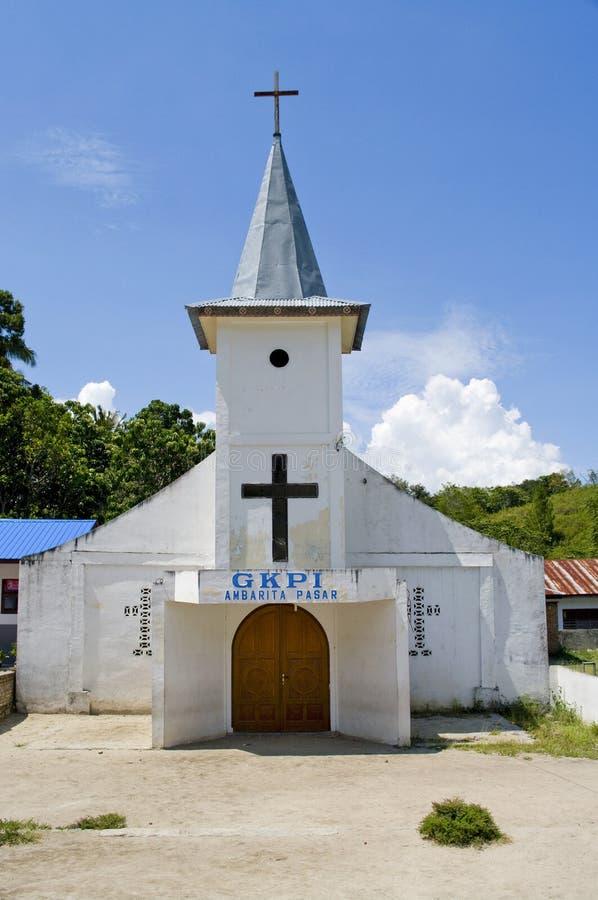 Igreja no console Samosir, Indonésia. fotos de stock royalty free
