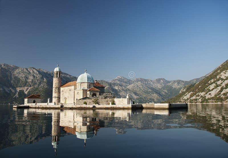 Igreja no louro Montenegro do kotor do perast foto de stock