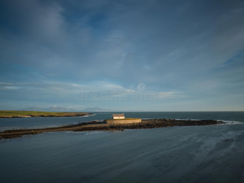 Igreja no mar fotografia de stock royalty free