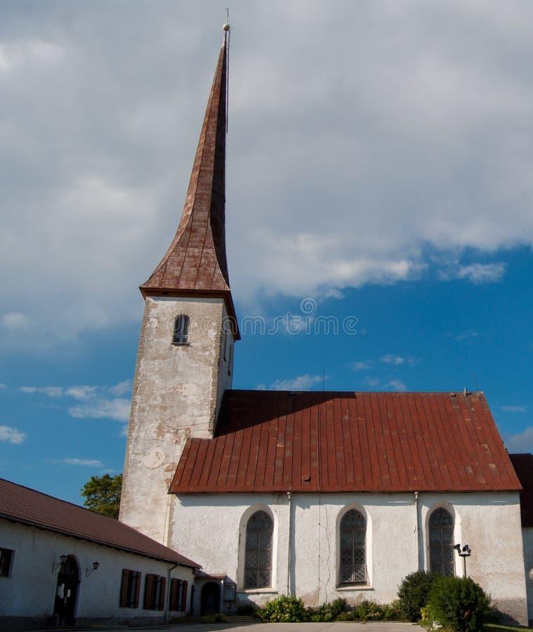 Igreja no rakvere fotografia de stock