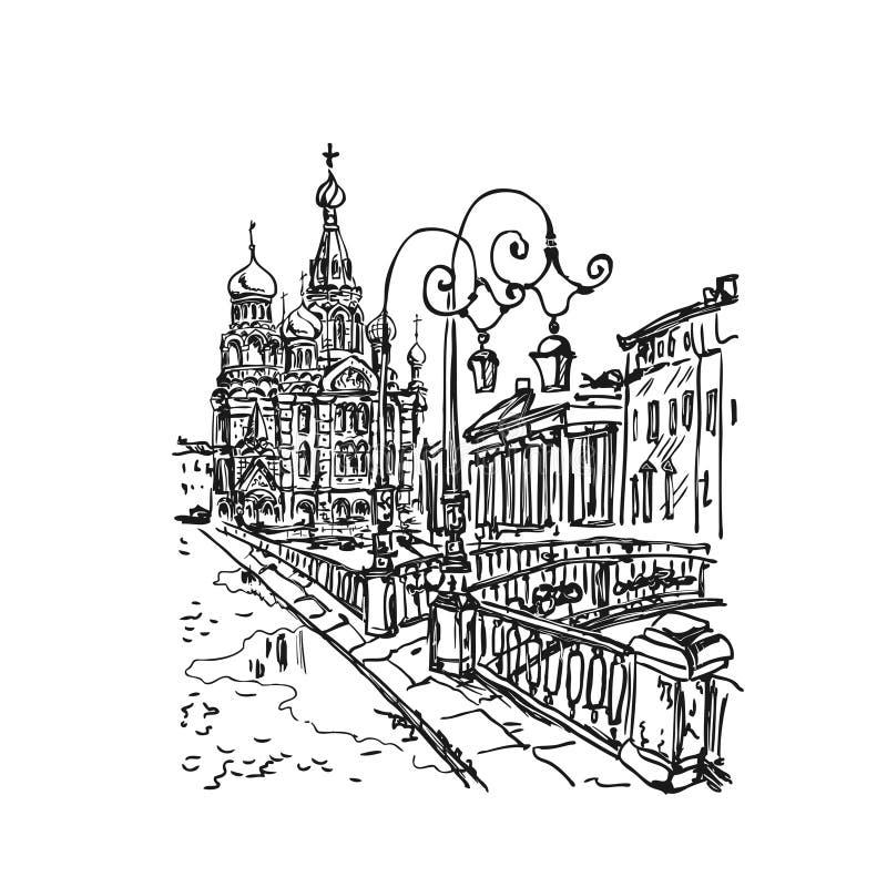 Igreja no sangue derramado ilustração royalty free