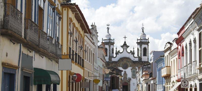 A igreja Nossa Senhora faz Carmo, Sao Joao del Rey imagem de stock royalty free