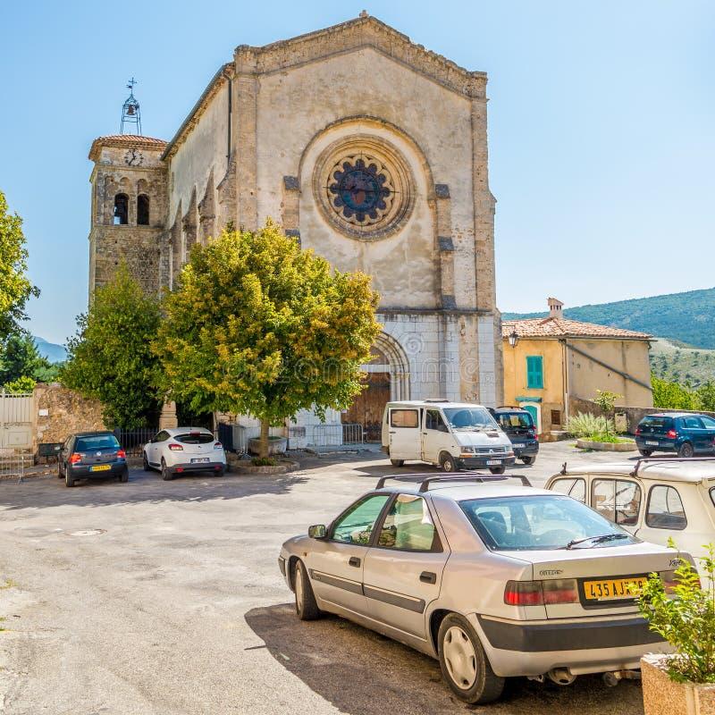 Igreja Notre Dame de Vauvert do sur Verdon de Palud do La foto de stock