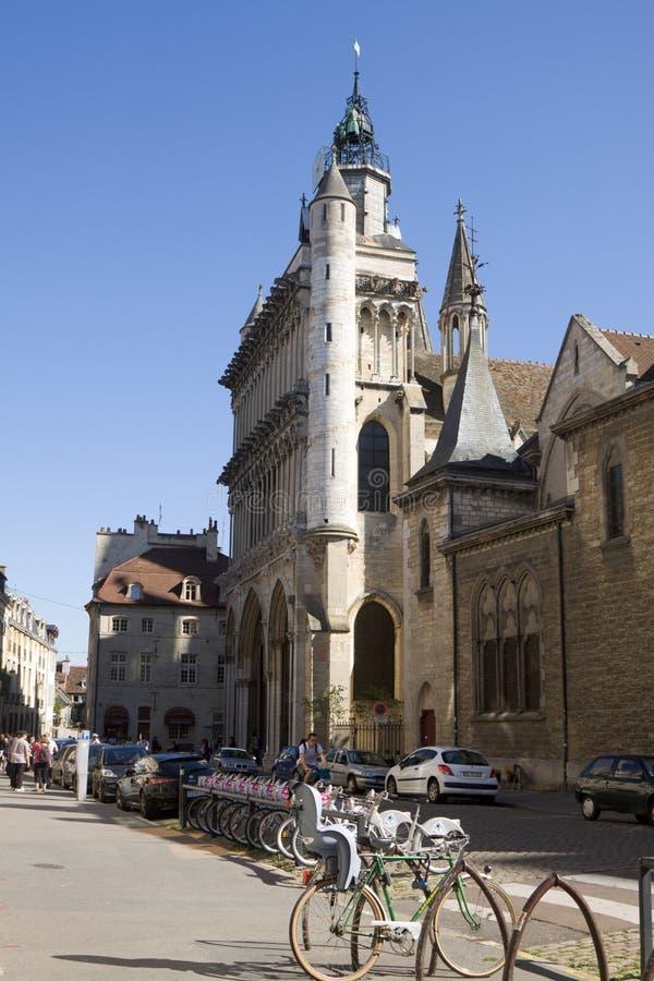 A igreja Notre Dame em Dijon, França fotos de stock