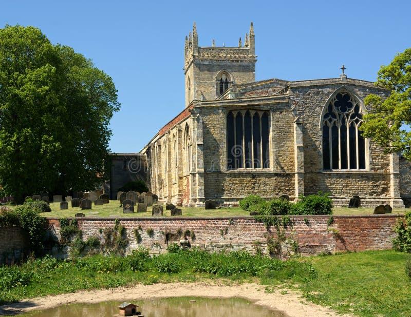 A igreja & o Barton Beck de St Mary Barton Upon Humber Reino Unido fotografia de stock