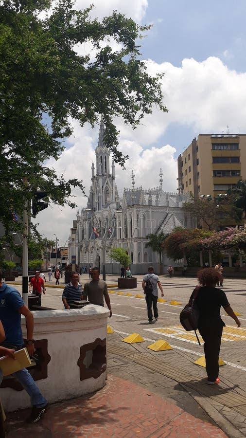 Igreja o cali Colômbia do ermita fotografia de stock