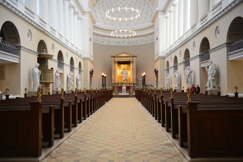 Igreja onde o príncipe herdeiro Frederik e Mary se casou imagens de stock