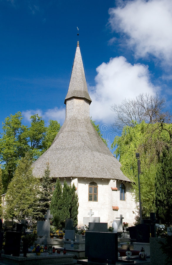 Igreja original, Poland. foto de stock royalty free