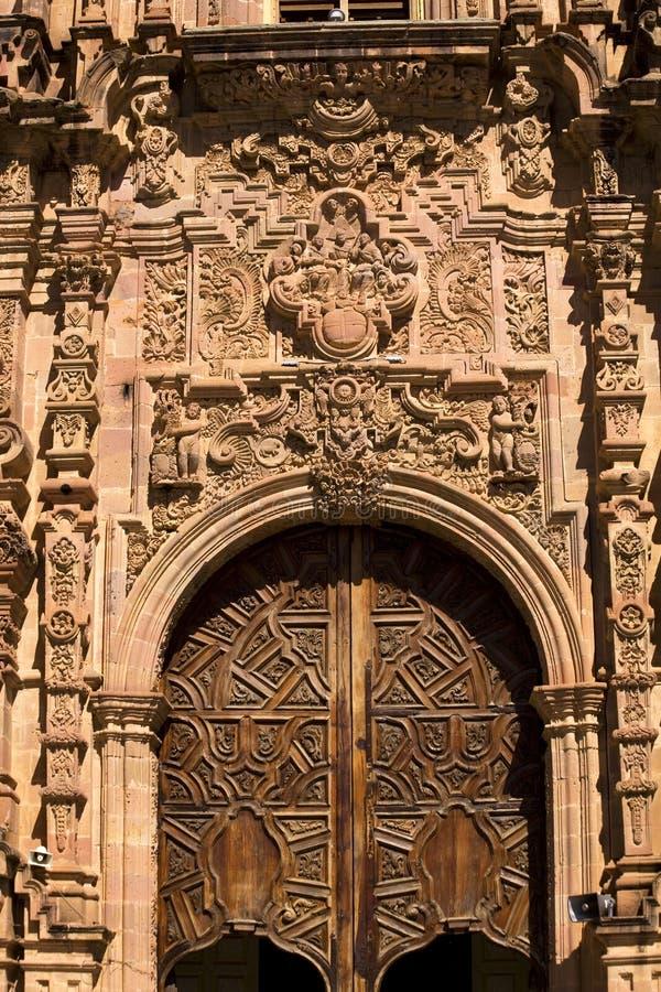 Igreja ornamentado Guanajuato México de Valença da porta fotos de stock royalty free