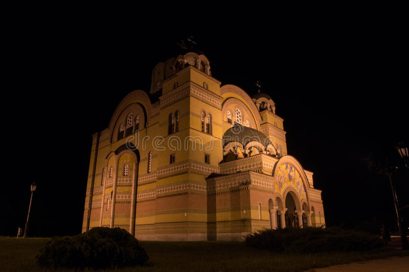 Igreja ortodoxa Apatin fotos de stock royalty free