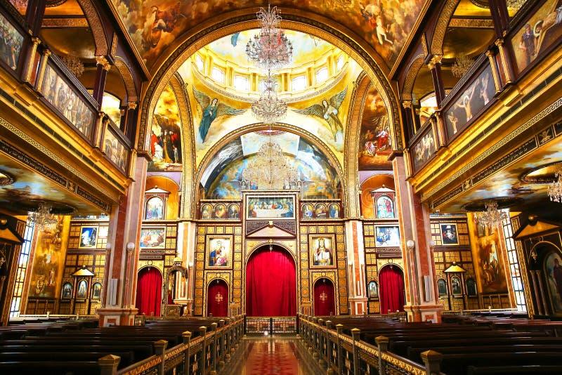 A igreja ortodoxa cóptico para dentro no Sharm el Sheikh foto de stock