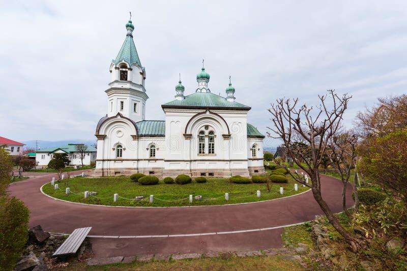 Igreja ortodoxa católica em Motomachi, Hakodate fotos de stock