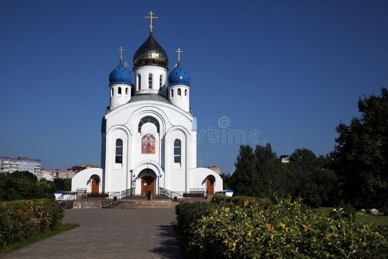 Igreja ortodoxa da ressurreição de Cristo em Minsk fotografia de stock royalty free