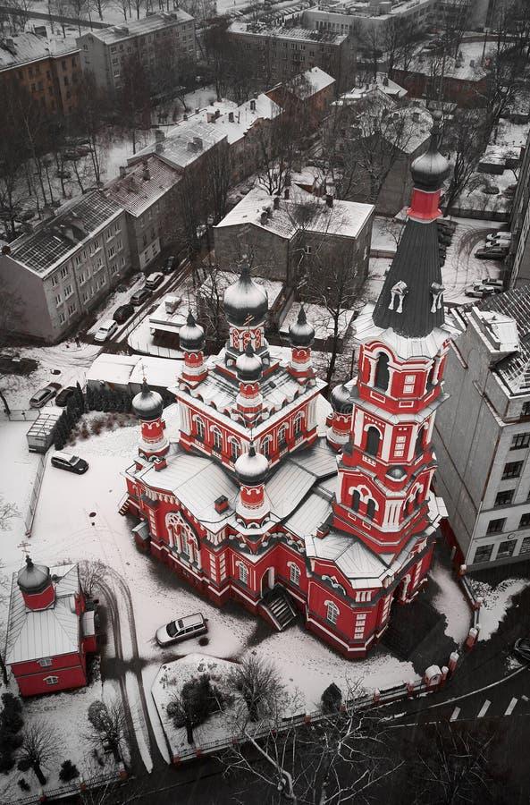 Igreja ortodoxa da trindade santamente em Riga imagem de stock