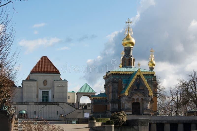 Igreja ortodoxa de Darmstadt imagens de stock royalty free