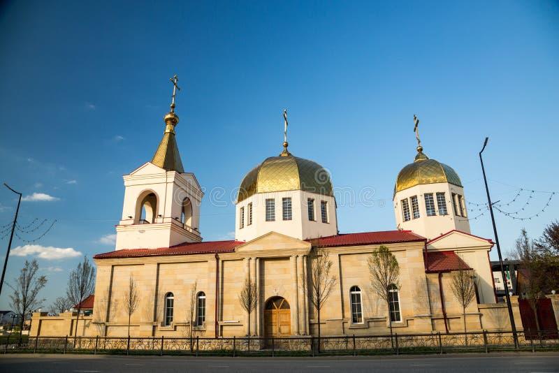 A igreja ortodoxa de Michael o arcanjo Grozny, Chechnya fotos de stock